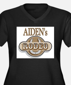 Aiden's Rodeo Personalized Women's Plus Size V-Nec