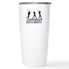 Baseball Anthony Personalized Travel Mug