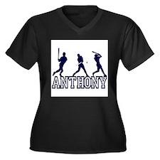 Baseball Anthony Personalized Women's Plus Size V-