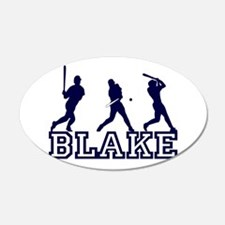 Baseball Blake Personalized 22x14 Oval Wall Peel