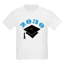 Blue 2030 Graduation Hat Logo T-Shirt