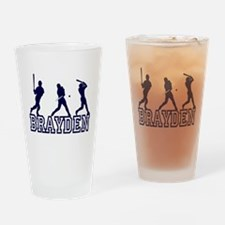 Baseball Brayden Personalized Drinking Glass