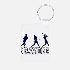 Baseball Brayden Personalized Keychains