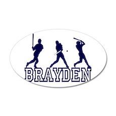 Baseball Brayden Personalized 22x14 Oval Wall Peel