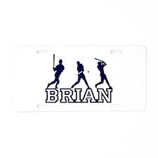 Baseball Brian Personalized Aluminum License Plate