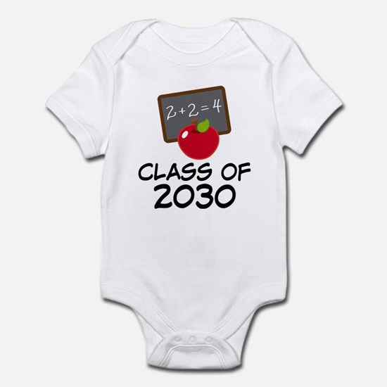 School Class of 2030 Apple Infant Bodysuit