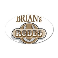 Brian's Rodeo Personalized 22x14 Oval Wall Peel
