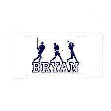 Baseball Bryan Personalized Aluminum License Plate
