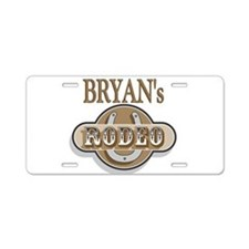 Bryan's Rodeo Personalized Aluminum License Plate