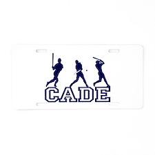 Baseball Cade Personalized Aluminum License Plate
