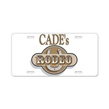 Cade's Rodeo Personalized Aluminum License Plate