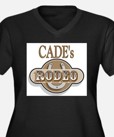 Cade's Rodeo Personalized Women's Plus Size V-Neck
