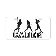 Baseball Caden Personalized Aluminum License Plate