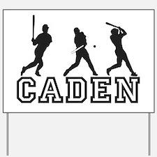 Baseball Caden Personalized Yard Sign
