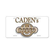Caden's Rodeo Personalized Aluminum License Plate