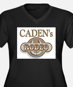 Caden's Rodeo Personalized Women's Plus Size V-Nec