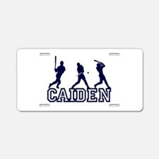 Baseball Caiden Personalized Aluminum License Plat