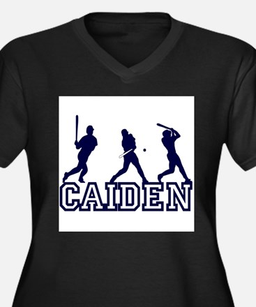 Baseball Caiden Personalized Women's Plus Size V-N