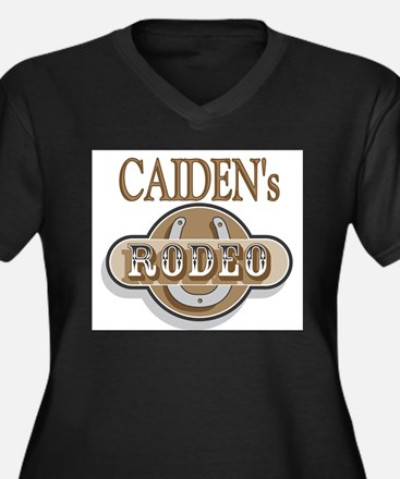 Caiden's Rodeo Personalized Women's Plus Size V-Ne