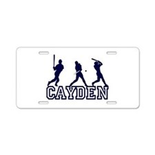 Baseball Cayden Personalized Aluminum License Plat