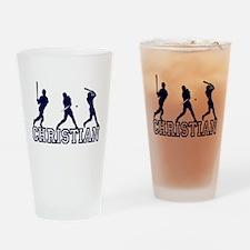 Baseball Christian Personaliz Drinking Glass