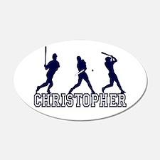 Baseball Christopher Personal 22x14 Oval Wall Peel