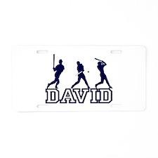 Baseball David Personalized Aluminum License Plate
