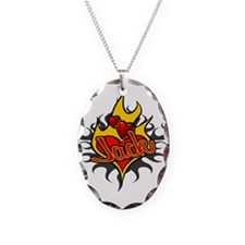 Jack Heart Flame Tattoo Necklace