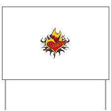 Jesse Tattoo Flames Yard Sign