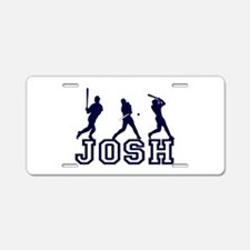 Baseball Josh Personalized Aluminum License Plate