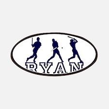 Baseball Ryan Personalized Patches