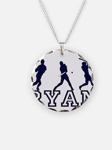 Baseball Ryan Personalized Necklace