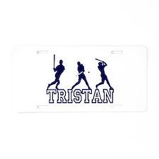 Baseball Tristan Personalized Aluminum License Pla