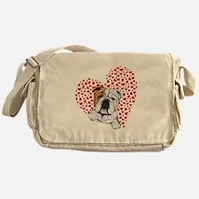 English Bulldog Love Messenger Bag