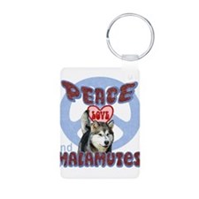 PEACE LOVE and MALAMUTES B3 Keychains
