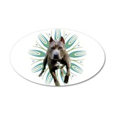 Pit Bull Kaleidoscope Graphic 22x14 Oval Wall Peel
