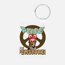 PEACE LOVE and PEMBROKES Keychains