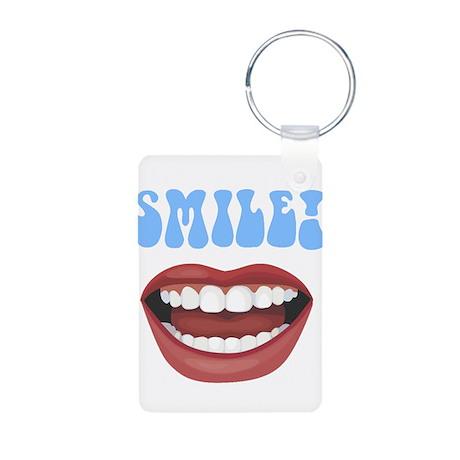 Healthy Smile Aluminum Photo Keychain