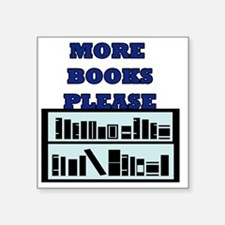 "Unique Bookshelves Square Sticker 3"" x 3"""