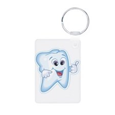 Healthy Happy Tooth Aluminum Photo Keychain