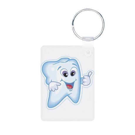 Healthy Happy Tooth Aluminum Photo Keychain