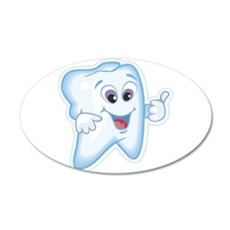 Healthy Happy Tooth 22x14 Oval Wall Peel