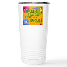 Brush Floss Rinse Smile Travel Mug