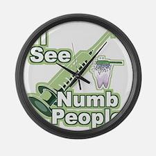 I See NUMB People! Large Wall Clock