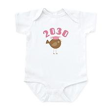 Class Of 2030 Pink Bird Infant Bodysuit