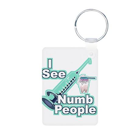 I See NUMB People! Aluminum Photo Keychain