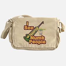 I See NUMB People! Messenger Bag