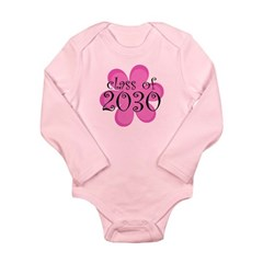 Class of 2030 Pink Daisy Long Sleeve Infant Bodysu