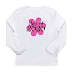 Class of 2030 Pink Daisy Long Sleeve Infant T-Shir