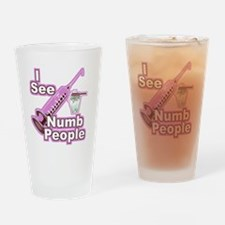 I See NUMB People! Drinking Glass